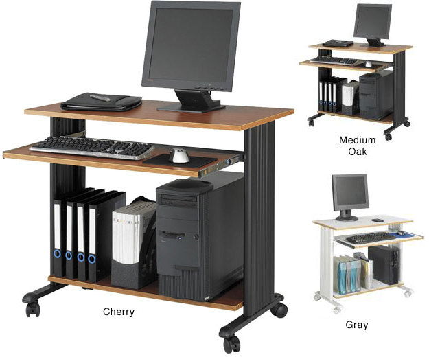 """Safco Muv 35""""W Fixed Height Computer Workstation with Keyboard Shelf"""