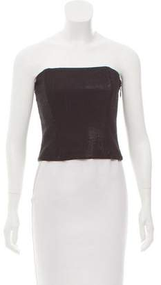 Halston Strapless Sequin Top w/ Tags