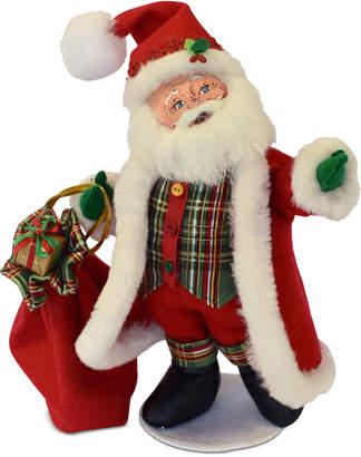 Annalee Plaid Tidings Santa Figurine