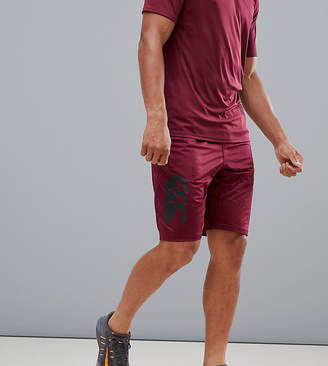 Canterbury of New Zealand Vapodri Stretch Knit Shorts In Burgundy Exclusive To ASOS