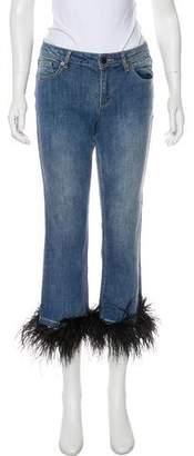 Alice + Olivia Tasha Mid-Rise Jeans w/ Tags
