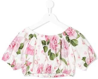 MonnaLisa floral print crop top