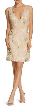 Dress the Population Cody Floral-Embroidered Sheath Dress