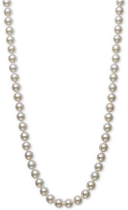 "Belle de Mer Cultured Akoya Pearl (7-7-1/2mm) 16"" Strand Necklace in 14k Gold"