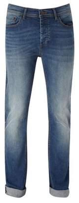 Burton Mens Mid Wash Blake Slim Fit Jeans