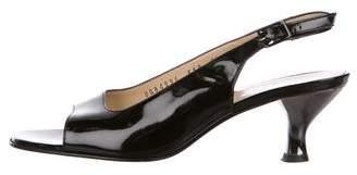 Salvatore Ferragamo Patent Leather Slingback Sandals