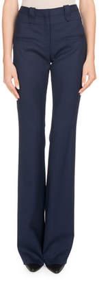 Altuzarra High-Waist Boot-cut Wool Pants