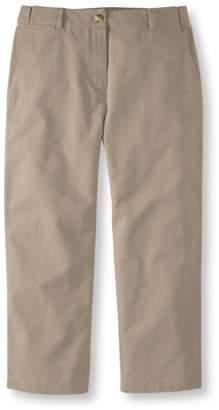 L.L. Bean L.L.Bean Wrinkle-Free Bayside Pants, Cropped Classic Fit Hidden Comfort Waist