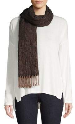 Eileen Fisher Recycled Cotton Fringe Scarf