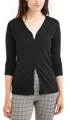 WHAT'S NEXT Women's Everyday V-Neck Button-Down Cardigan