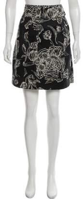 Leifsdottir Floral Knee-Length Skirt
