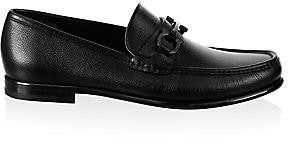 Salvatore Ferragamo Men's Crown Gancini Bit Leather Loafers