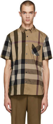 Burberry Beige Check Thornaby Shirt