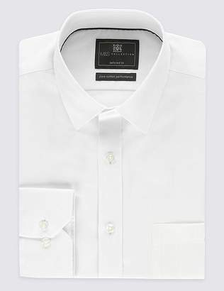 Marks and Spencer Pure Cotton Non-Iron Tailored Fit Shirt