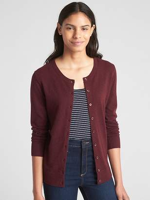 Gap Slim Crewneck Cardigan Sweater