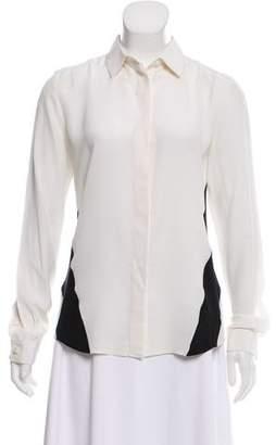Barbara Bui Silk Button-Up Top