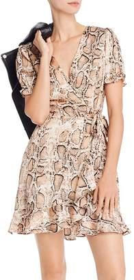 Aqua Puff-Sleeve Snake Print Dress - 100% Exclusive
