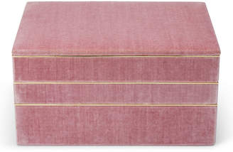 AERIN Valentina Velvet Stacked Jewelry Box