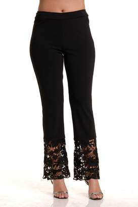 Bali Lace Hem Pull-on Pant