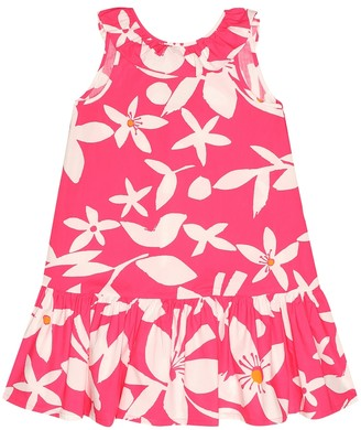 Il Gufo Floral cotton dress