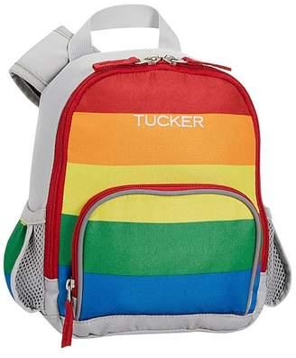 Pottery Barn Kids Fairfax Gray/Bright Rainbow Stripe Classic Lunch Bag