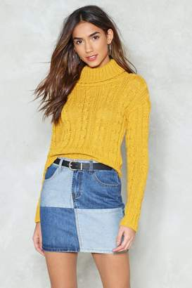 Nasty Gal We Don't Believe in Cables Crop Sweater