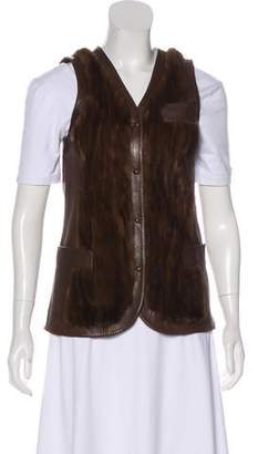 Dolce & Gabbana Fur & Leather Vest