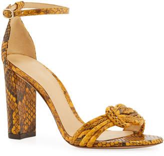 Alexandre Birman Chiara Python Block-Heel Sandal