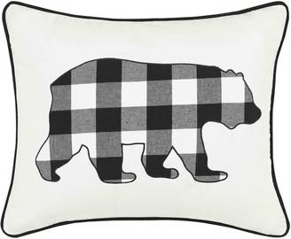 Eddie Bauer Cabin Plaid Bear Breakfast Throw Pillow