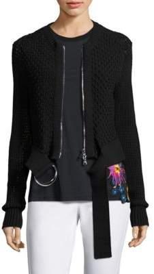 3.1 Phillip Lim Crochet Knit Jacket