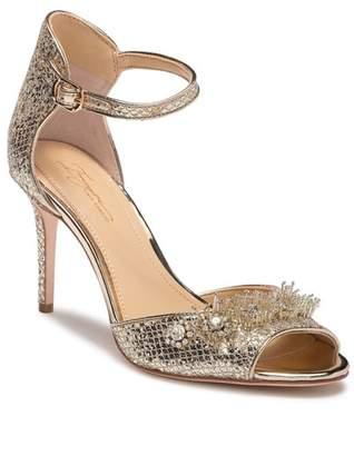 Vince Camuto Imagine Prisca Embellished Open Toe Pump