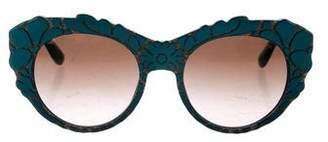 Dolce & Gabbana Patterned Cat-Eye Sunglasses