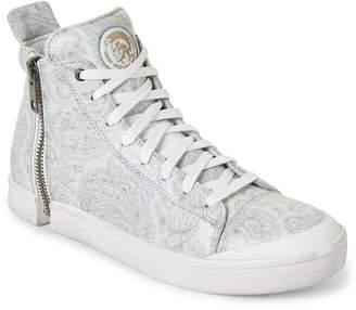Diesel White & Grey Nentish High-Top Sneakers