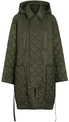 Burberry diamond quilted hooded coat
