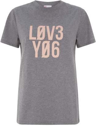 RED Valentino Love You Slogan T-Shirt