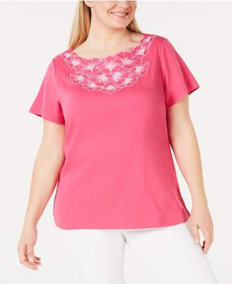 Karen Scott Plus Size Floral T-Shirt