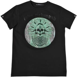 John Richmond Embellished Cotton Jersey T-Shirt