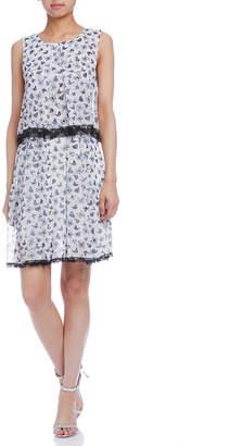 Paola Frani (パオラ フラーニ) - PAOLA FRANI バタフライプリント ノースリーブドレス ホワイトマルチ 38