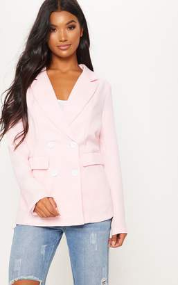 PrettyLittleThing Pink Double Breasted Blazer