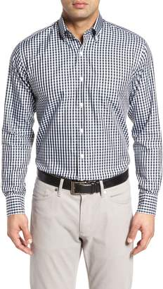 Peter Millar Black Sand Classic Fit Gingham Check Sport Shirt