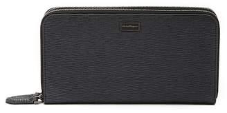 Bally Textured Zip Around Leather Wallet