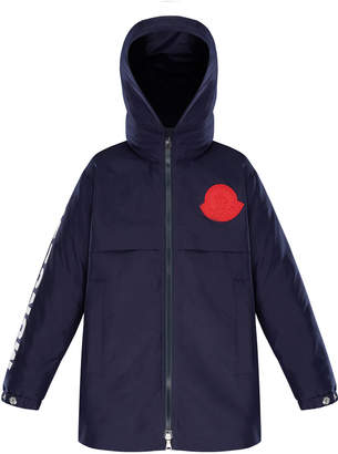 Moncler Hooded Logo Coat, Size 8-14