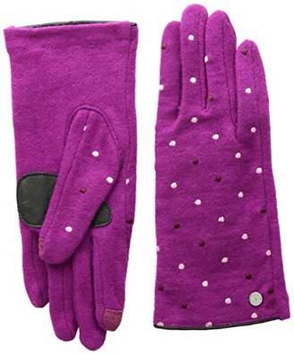 Echo Women's Dot Wool Blend Glove, Black