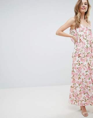 Oh My Love Cami Maxi Dress With Frill Detail