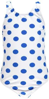 boohoo Girls Spot Print Scoop Swimsuit