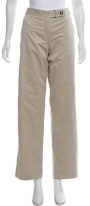 Armani Collezioni Mid-Rise Straight Leg Pants Khaki Mid-Rise Straight Leg Pants