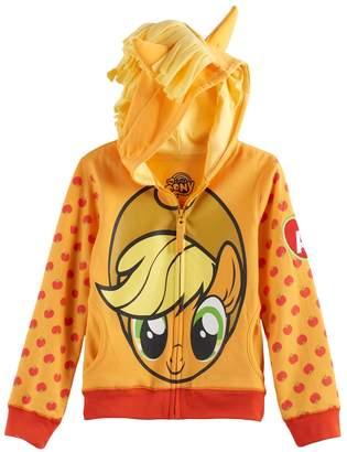 Girls 4-6x My Little Pony Applejack 3D Mane & Ears Hoodie