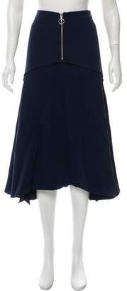 Derek Lam Fluted Midi Skirt w/ Tags