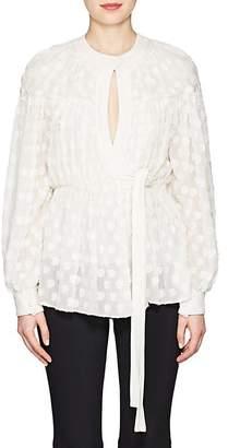 Proenza Schouler Women's Silk-Cotton Fil Coupé Blouse