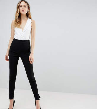 Missguided Tall cigarette trousers in black